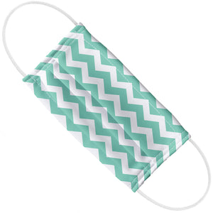 Teal Chevron Pattern Adult Flat View