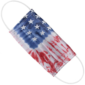 American Flag Tie Dye Adult Flat View