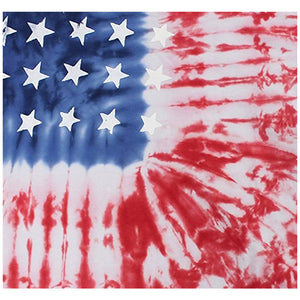 American Flag Tie Dye Adult Mask Design Full View