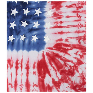 American Flag Tie Dye Kids Mask Design Full View