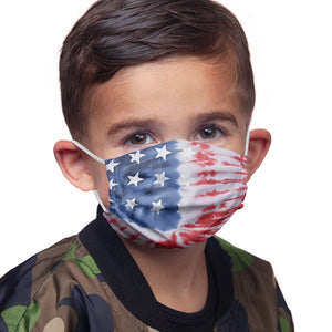 American Flag Tie Dye Kids Main Model View