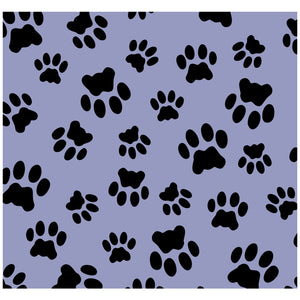 Cat Paws Print Pattern Adult Mask Design Full View