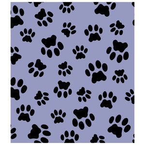 Cat Paws Print Pattern Kids Mask Design Full View
