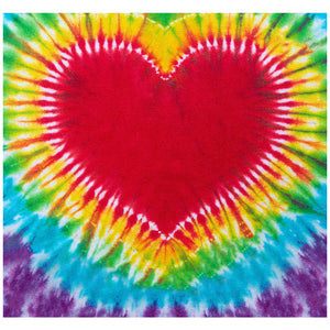 Tie Dye Heart Adult Mask Design Full View