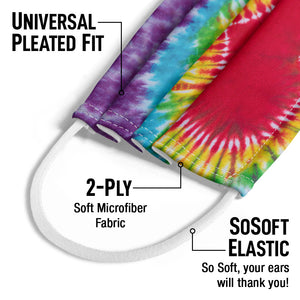 Tie Dye Heart Kids Universal Pleated Fit, 2-Ply, SoSoft Elastic Earloops