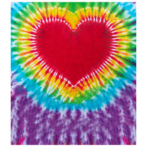 Tie Dye Heart Kids Mask Design Full View
