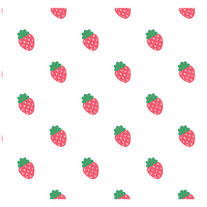 Strawberry Pattern Adult Mask Design Full View
