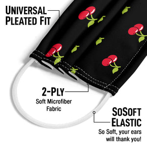 Cherry Pattern Adult Universal Pleated Fit, 2-Ply, SoSoft Elastic Earloops