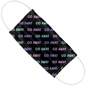 Go Away Pattern Black Adult Flat View