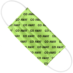 Go Away Pattern Green Adult Flat View