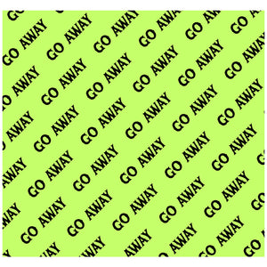 Go Away Pattern Green Adult Mask Design Full View