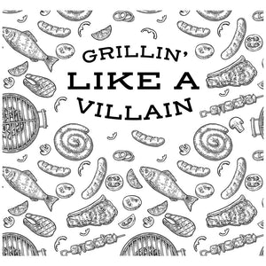 Load image into Gallery viewer, Grillin' Like a Villian Adult Mask Design Full View