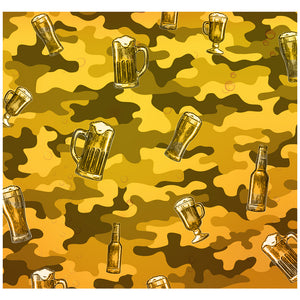 Load image into Gallery viewer, Beer Camo Adult Mask Design Full View