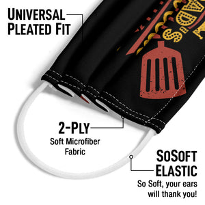 Dad's BBQ Adult Universal Pleated Fit, 2-Ply, SoSoft Elastic Earloops
