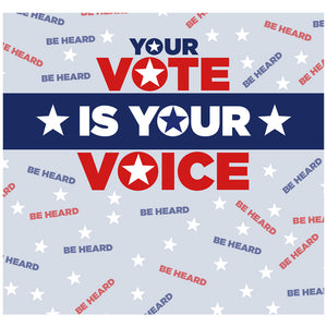 Your Vote is Your Voice Adult Mask Design Full View