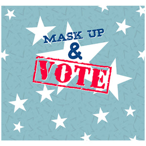 Mask Up and Vote Adult Mask Design Full View