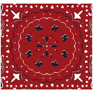 Red Paisley 3 Adult Mask Design Full View