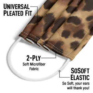 Leopard Print Adult Universal Pleated Fit, 2-Ply, SoSoft Elastic Earloops