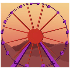 Desert Ferris Wheel Adult Mask Design Full View