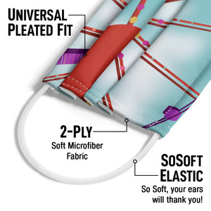 Ferris Wheel in the Clouds Adult Universal Pleated Fit, 2-Ply, SoSoft Elastic Earloops