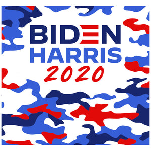 Load image into Gallery viewer, Biden Harris Camo Adult Mask Design Full View