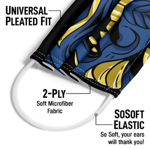 Load image into Gallery viewer, Samurai Mask Adult Universal Pleated Fit, 2-Ply, SoSoft Elastic Earloops