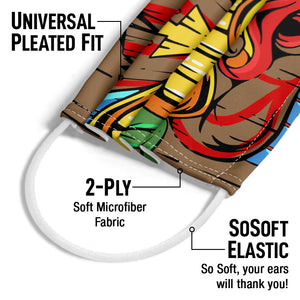 Tiki Face Adult Universal Pleated Fit, 2-Ply, SoSoft Elastic Earloops
