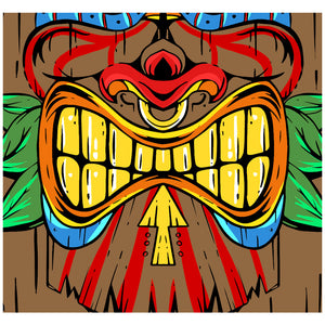 Tiki Face Adult Mask Design Full View