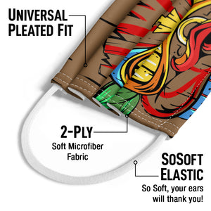 Tiki Face Kids Universal Pleated Fit, 2-Ply, SoSoft Elastic Earloops