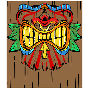 Load image into Gallery viewer, Tiki Face Kids Mask Design Full View