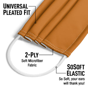 Solid Pumpkin Spice Adult Universal Pleated Fit, 2-Ply, SoSoft Elastic Earloops