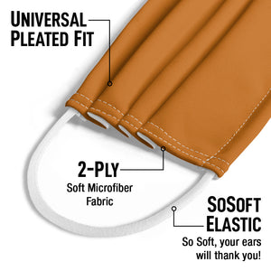 Solid Pumpkin Spice Kids Universal Pleated Fit, 2-Ply, SoSoft Elastic Earloops