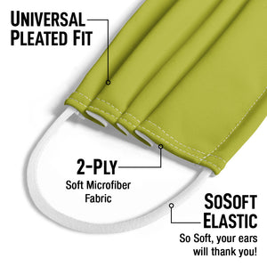Solid Chartreuse Kids Universal Pleated Fit, 2-Ply, SoSoft Elastic Earloops