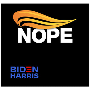 Load image into Gallery viewer, Biden Harris Nope Adult Mask Design Full View