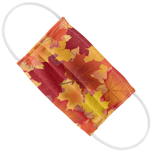 Fall Maple Leaf Pattern Kids Flat View