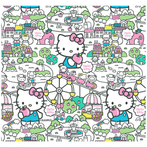 Load image into Gallery viewer, Hello KItty Pastel Teal Pattern