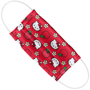Hello Kitty and Apples Pattern Adult Flat View
