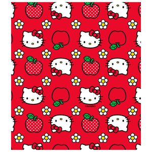 Hello Kitty and Apples Pattern Kids Mask Design Full View