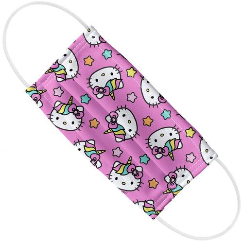 Hello Kitty Unicorn Face Pattern Adult Flat View