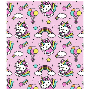 Load image into Gallery viewer, Hello Kitty Unicorn Pattern Kids Mask Design Full View