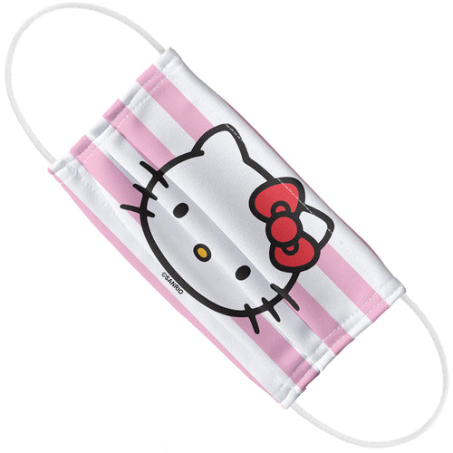 Hello Kitty Face and Stripes Adult Flat View