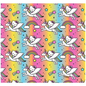 Load image into Gallery viewer, Hello Kitty Flying Unicorn Pattern Adult Mask Design Full View