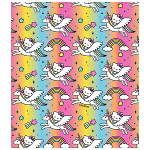 Load image into Gallery viewer, Hello Kitty Flying Unicorn Pattern Kids Mask Design Full View