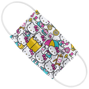 Load image into Gallery viewer, Hello Kitty Pink Pattern Kids Flat View