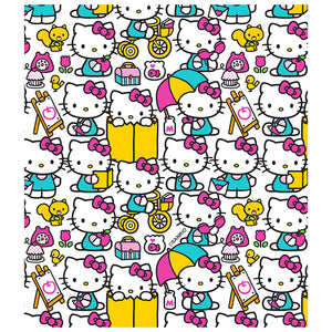 Load image into Gallery viewer, Hello Kitty Pink Pattern Kids Mask Design Full View