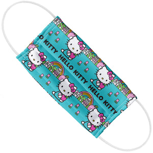 Hello Kitty Rainbow Pattern Adult Flat View