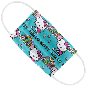 Hello Kitty Rainbow Pattern Kids Flat View
