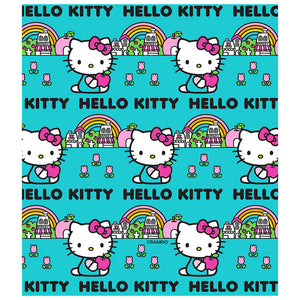 Hello Kitty Rainbow Pattern Kids Mask Design Full View
