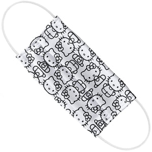 Hello Kitty Line Art Pattern Adult Flat View