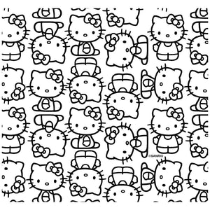Hello Kitty Line Art Pattern Adult Mask Design Full View